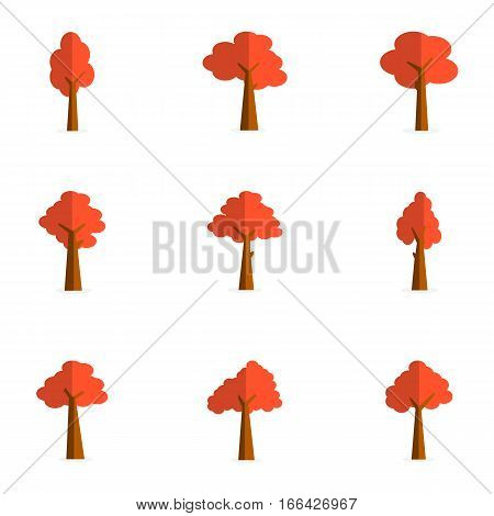 Set of tree design vector collection stock
