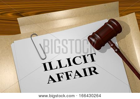 Illicit Affair - Legal Concept