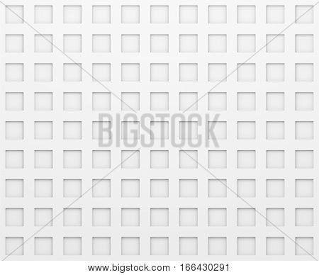 White Texture With Rectangle Pattern. 3D illustration. Background for your design