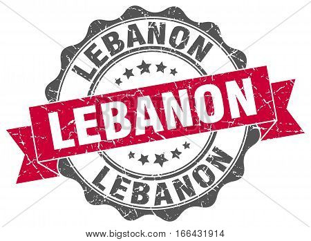 Lebanon. round isolated grunge vintage retro stamp