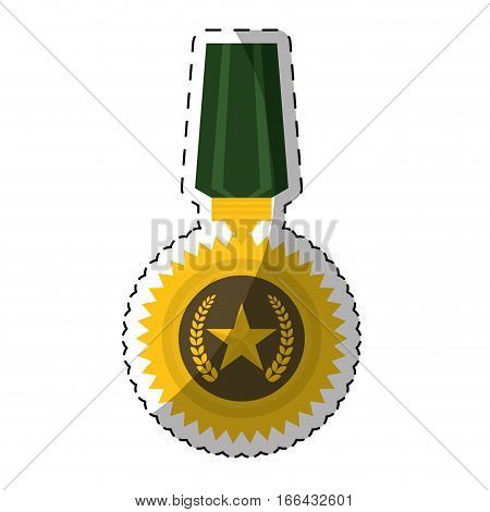 military medal  icon image vector illustration design