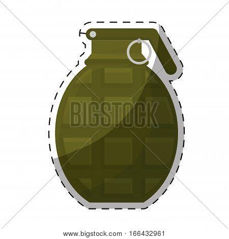 grenade weapon  icon image vector illustration design