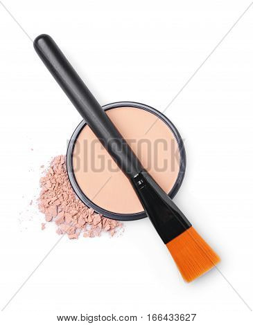 Beige Face Powder With Brush