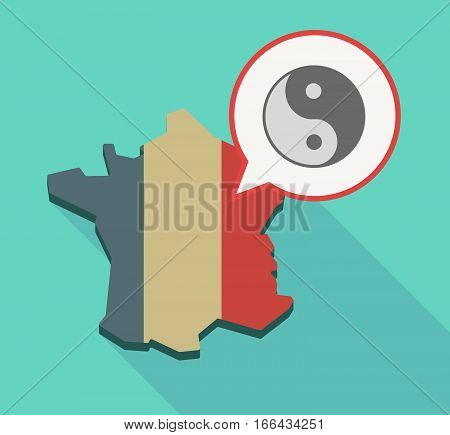 Long Shadow France Map With A Ying Yang