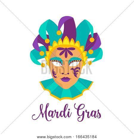 Mardi Gras vector icon. Illustration carnival mask.