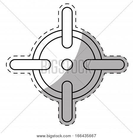 firearm aim or target  icon image vector illustration design