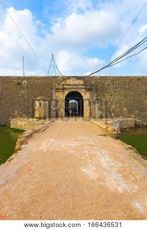 Jaffna Fort Entrance Door Bridge Over Moat V