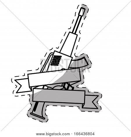 gun firearm weapon emblem image vector illustration design