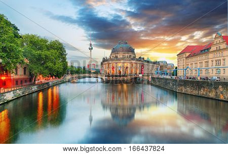 Berlin Germany at a sunrise time, Museum Island