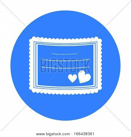 Wedding card icon of vector illustration for web and mobile design - stock vector