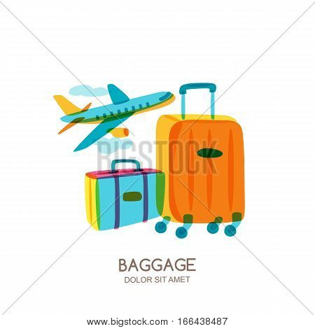 Travel And Tourism Concept. Vector Doodle Isolated Illustration.