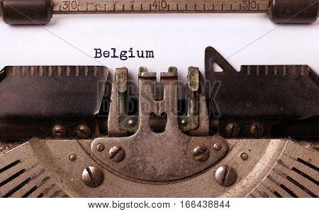 Old Typewriter - Belgium