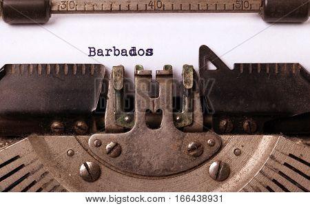 Old Typewriter - Barbados