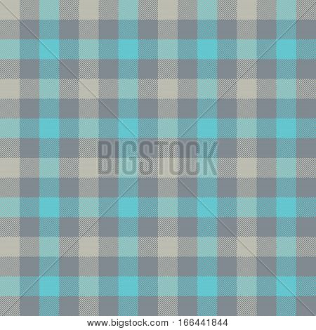 Blue gray check tablecloth seamless pattern. Vector illustration. EPS 10.