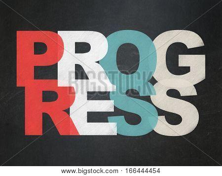 Business concept: Painted multicolor text Progress on School board background, School Board