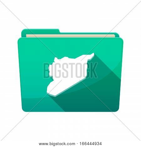 Isolated Folder With  The Map Of Syria