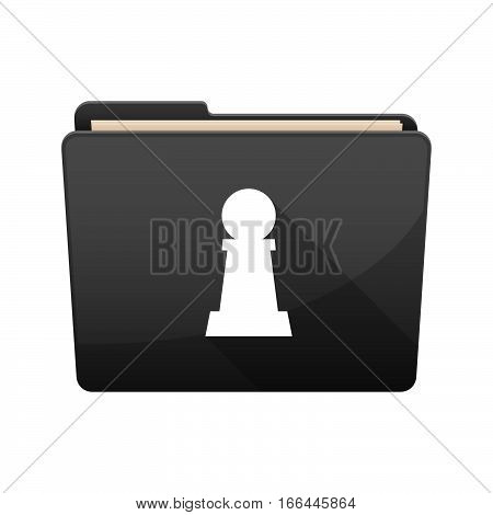 Isolated Folder With A  Pawn Chess Figure