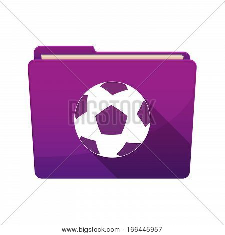 Isolated Folder With  A Soccer Ball