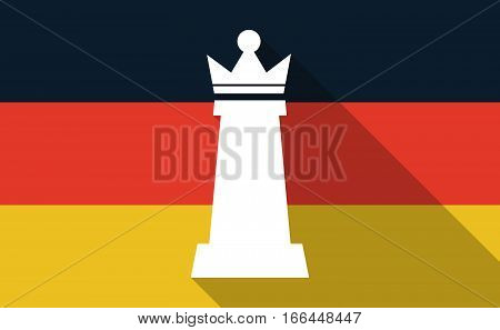 Long Shadow Germany Flag With A  Queen   Chess Figure