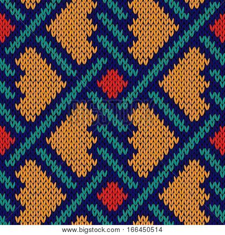 Seamless Knitted Intertwined Pattern
