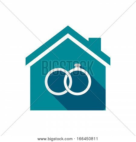Isolated House With  Two Bonded Wedding Rings