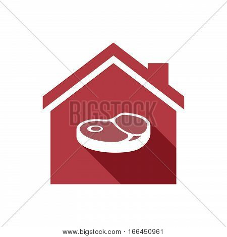 Isolated House With  A Steak Icon