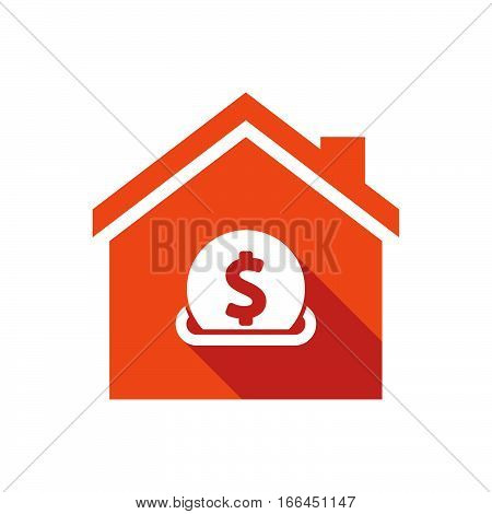 Isolated House With  A Dollar Coin Entering In A Moneybox