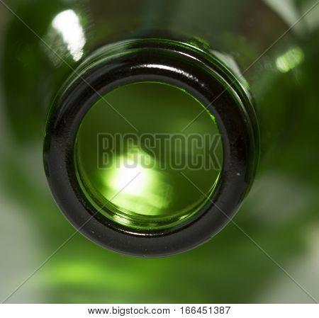 Light and dark green bottle neck like circle