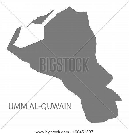 Umm Al-quwain United Arab Emirates Map Grey