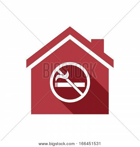 Isolated House With  A No Smoking Sign