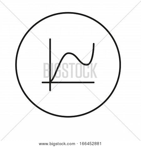 Chart, diagram. Icon for web and mobile application. Vector illustration on a white background. Line