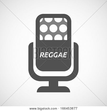 Isolated Mic With    The Text Reggae