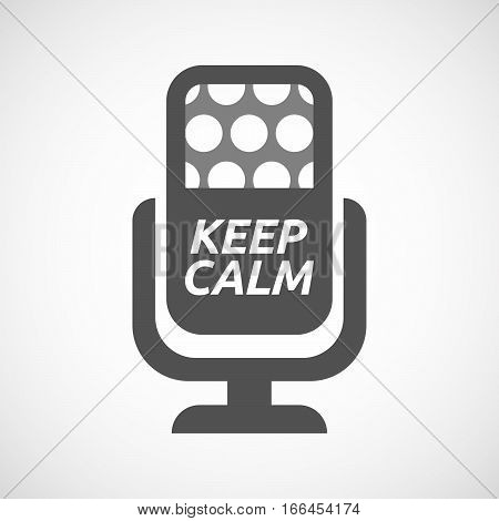 Isolated Mic With    The Text Keep Calm
