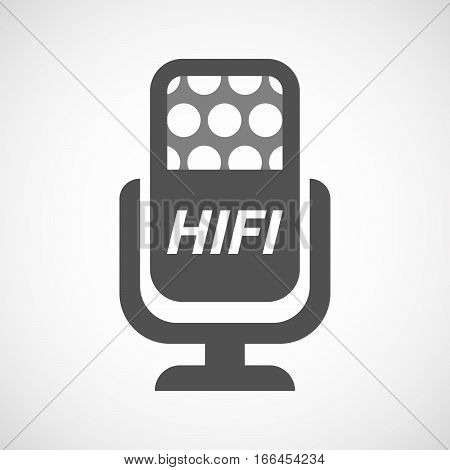 Isolated Mic With    The Text Hifi