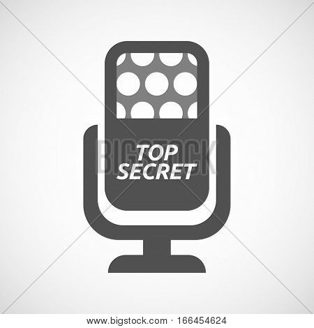 Isolated Mic With    The Text Top Secret