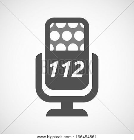 Isolated Mic With    The Text 112
