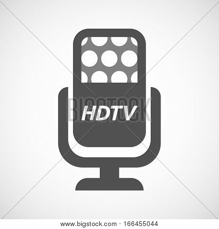 Isolated Mic With    The Text Hdtv