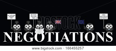 Monochrome United Kingdom exit negotiations from the European Union  resulting from the June 2016 referendum
