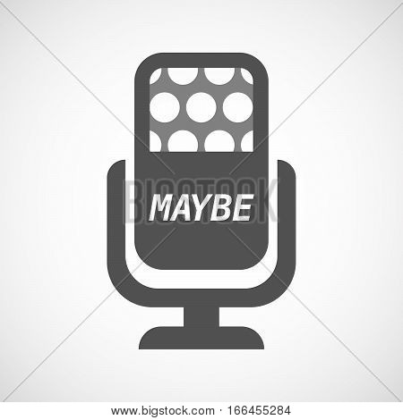 Isolated Mic With    The Text Maybe