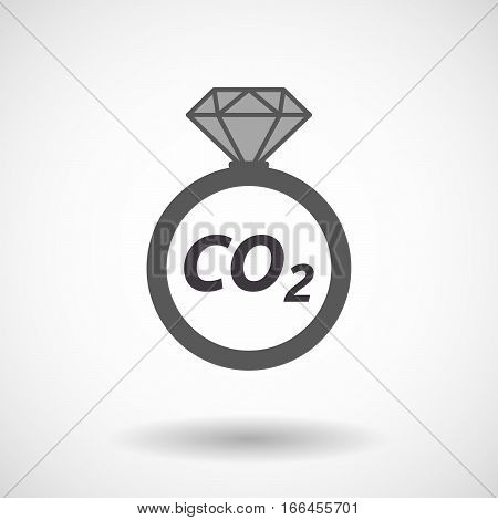 Isolated Ring With    The Text Co2