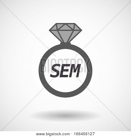 Isolated Ring With    The Text Sem