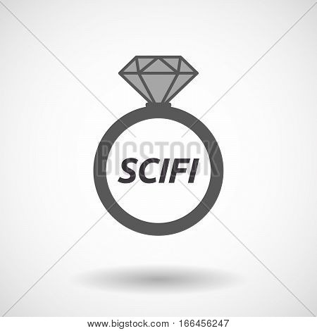 Isolated Ring With    The Text Scifi