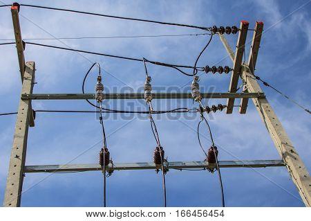 Voltage transformers preparation, Electricity post hub background