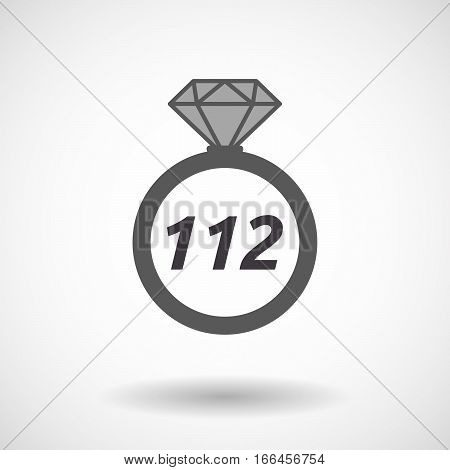 Isolated Ring With    The Text 112