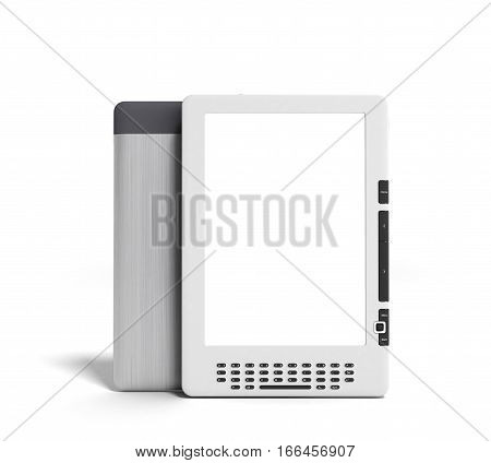 Blank E-book Reader 3D Render Image On Gradient