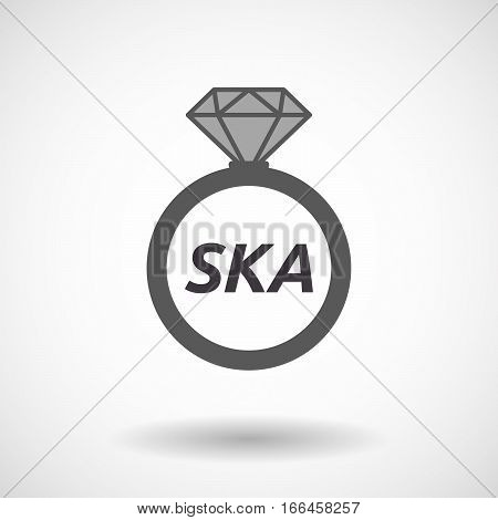 Isolated Ring With    The Text Ska