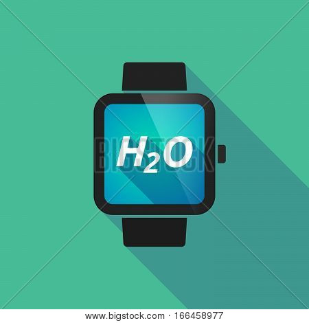 Long Shadow Smart Watch With    The Text H2O