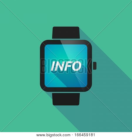 Long Shadow Smart Watch With    The Text Info