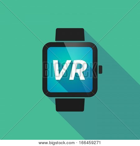 Long Shadow Smart Watch With    The Virtual Reality Acronym Vr