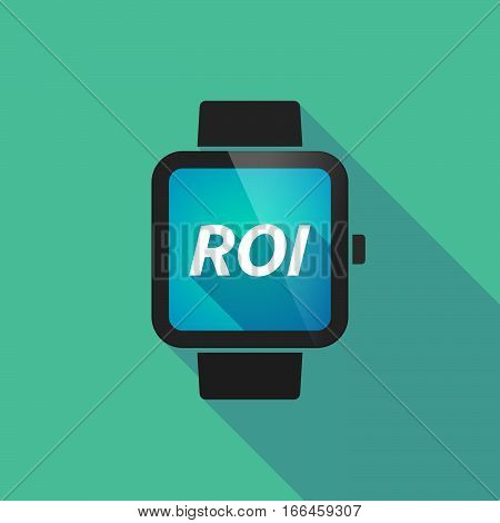Long Shadow Smart Watch With    The Return Of Investment Acronym Roi